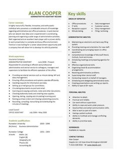 ***British Administrative Assistant Resume Template/Example   This  Professionally Designed Administrative Assistant Resume Shows A Candidates  Ability To ...  How To Write A Skills Based Resume
