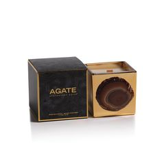 """Apothecary Guild Mineral Agate Wooden Wick Candle Jars in Gift Box  Fragrances: Wood Ash, Oceana, Mangosteen, Siberian Fir, Blackcurrant Dimensions: 3.25"""" x 3.25"""" Wax Weight: 217 grams // 7.7 oz Burn Time: 45 hours"""
