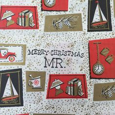 Vintage Christmas Wrapping Paper  For Him  by TheGOOSEandTheHOUND