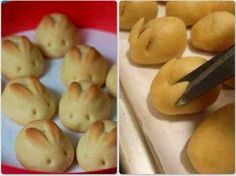 Easter food: bunny buns. I wonder if I could pull this off.
