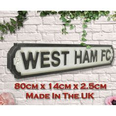 West Ham Football Club Gifts West Ham Football, Football Signs, Brighton & Hove Albion, Brighton And Hove, Manchester United Old Trafford, Carrow Road, Millwall, Goodison Park