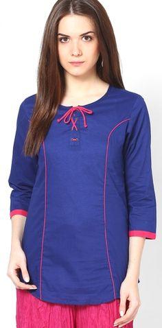 Flat Off On Entropy Blue Kurtis & Kurtas For Women At Jabong Kurta Style, Daily Wear, Shirt Blouses, Fashion Online, Tunic Tops, Clothes For Women, Kurtis, Sweatshirts, Womens Fashion