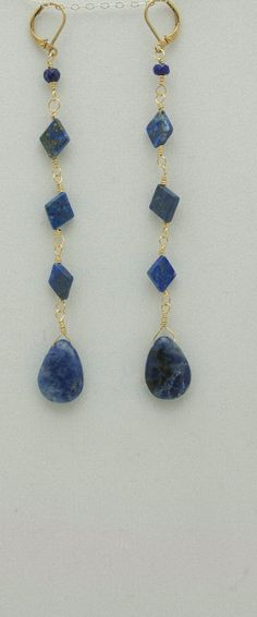 These Morocco Blue earrings are handmade in lapis by MapletonDrive, $42.00