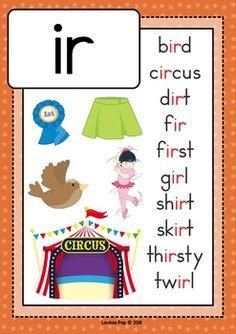 Digraph / R-Controlled Vowel IR: Phonics Word Work {Multiple Phonograms} Phonics Reading, Teaching Phonics, Preschool Learning Activities, Kindergarten Reading, Teaching Reading, Teaching Kids, Kids Learning, Work Activities, Learning Spanish
