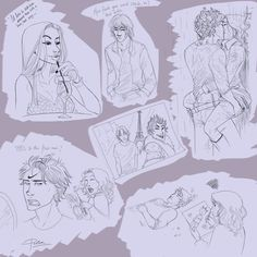 Second page of a scene from The Midnight Flower chapter from The Mortal Instruments, City of Bones. so i guess if you havent read it and want to, just dont open it. page 1. more to come... not so s...