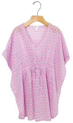 Stella Cove | Pink Hearts Cotton Cove-Ups for Girls | Luxury ...