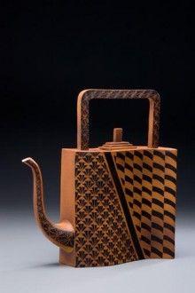Hand-built teapot, nice execution.