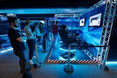 Inaugurazione del Transfinity VR Arcade di Lugano, il primo arcade del Ticino e della Svizzera interamente dedicato alla realtà virtuale. #basicStation #VRArcade #VRArcadeLugano #transfinity #transfinityVr #VirtecAttractions #SwissVRArcade Augmented Reality, Virtual Reality, Vr Room, Gaming Center, Digital Retail, Store Plan, Arcade Room, Game Cafe, Interactive Exhibition