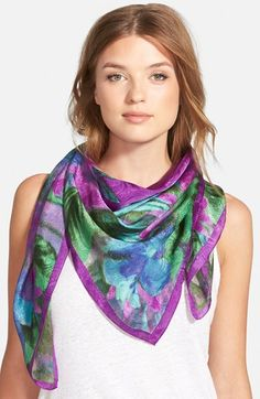 Lauren Ralph Lauren Silk Square Scarf available at #Nordstrom