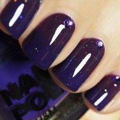 "Deep purple ""starry"" look"