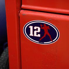 Number 12 Oval Sticker