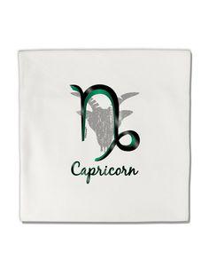 "Capricorn Symbol Micro Fleece 14""x14"" Pillow Sham"