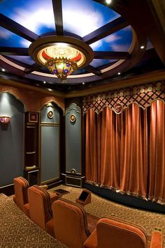 Now thats a Home Theater. We design the home theater of your dreams.hitech Now thats a Home Theater. We design the home theater of your dreams. Home Cinema Room, At Home Movie Theater, Home Theater Speakers, Home Theater Rooms, Home Theater Design, Home Movies, Home Entertainment, My Dream Home, Dream Homes