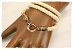 Wire Wrapped Copper Rope Wrap Bangle | WhimOriginals - Jewelry on ArtFire