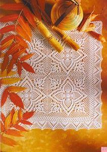 Square motifs for napkin
