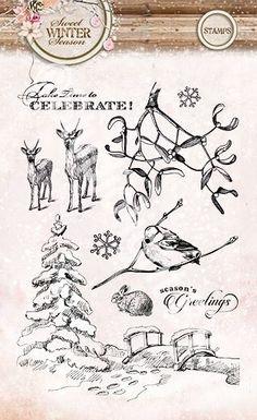 Studio Light serie:  ---Sweet Winter Season---  Bijpassende Stempels