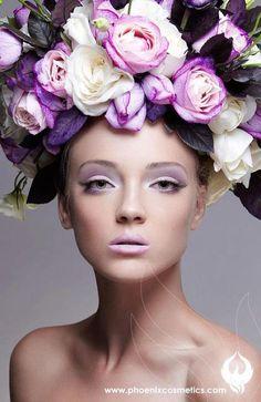 she wears flowers