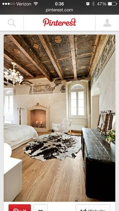 French rustic bedroom