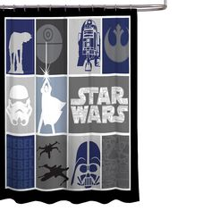 """Star Wars Ep7 Poster 70/"""" x 72/"""" Fabric Shower Curtain"""