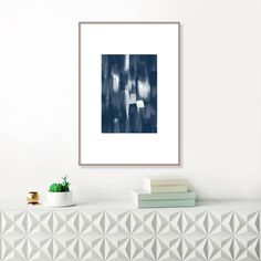 Blue Abstract Painting, Blue Abstract Art, Blue Watercolour, Modern Art Print, Original Wall Art, Blue Wall Pictures, Large Wall Art by InspirationAbstracts on Etsy