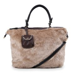 Aw 2014, Mountain Hiking, Large Tote, Fur, Beige, Autumn, Tote Bag, Winter, Taupe