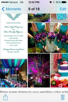 My wedding color scheme!