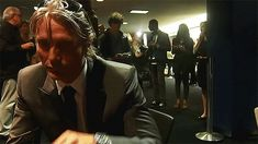 Mads not in plaid but I couldn't resist the hair and the pucker/duckface expression in this gif!  And, did I mention the suit??   via wiith-my-hands:  Mads Mikkelsen Interview in Paris - Part 1 [X]  oh so beautiful