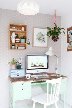 Love this mint desk