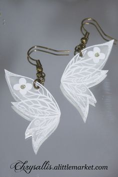 Boucles d'oreilles aile de fée Style féérique : Boucles d'oreille par chrysallis