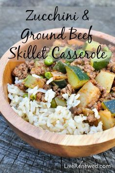 Don't know what to make for dinner tonight? Try this Zucchini and Ground Beef Skillet Casserole recipe - a quick and easy delicious seasonal meal!