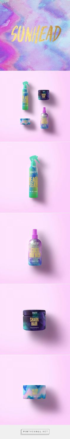 Branding, graphic design and packaging for SUN HEAD on Behance by Sarah Gwan Toronto, Ontario curated by Packaging Diva PD. Too bad this is just concept packaging. Millennials would snap this up : )