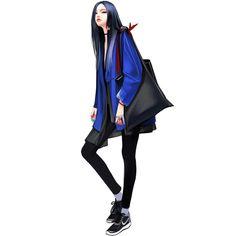 Daily Fashion, Fashion Art, Girl Fashion, Fashion Outfits, Fashion Design, Character Art, Character Design, Korean Art, Anime Outfits