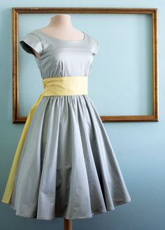 50's rockabilly dresses, retro style bridesmaids dress, modest clothing with sleeves - ASHLEY style