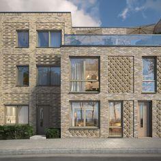 Remise Hof Brick Architecture, Residential Architecture, Architecture Details, Brick Detail, Brick Facade, Brick Design, Terrace Design, Building Facade, Brickwork