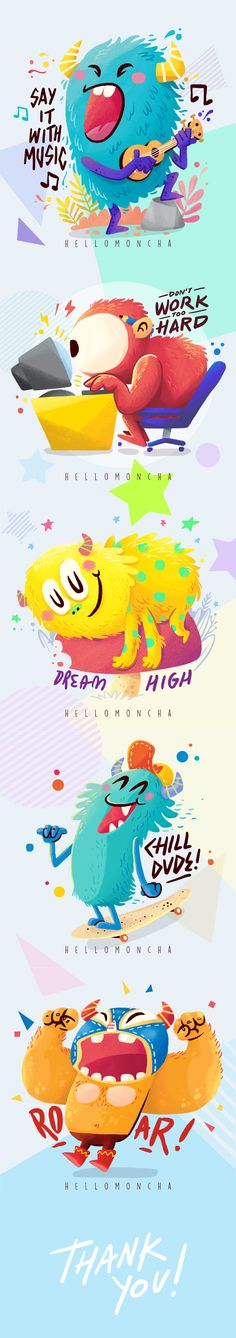 "Check out this @Behance project: ""Hellomoncha"