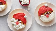 """Add some """"ho ho ho"""" to your holiday mornings with these cute Santa cinnamon rolls. Made with Pillsbury™ Grands!™ cinnamon rolls and a smooth cream cheese icing, these sweet breakfast treats are as fun to eat as they are to decorate! Sweet Breakfast, Breakfast For Kids, Breakfast Ideas, Brunch Ideas, Christmas Breakfast, Christmas Morning, Christmas Brunch, Christmas Appetizers, Christmas Cookies"""