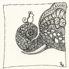 Zentangle Ganesha 107 by Sandy Hunter