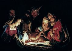 Matthias Stomer - The Adoration of the Shepherds [c.1640-50] by Gandalf's Gallery, via Flickr