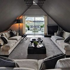 A lounge in the attic