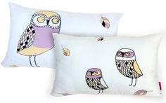 THREE OWLS decorative pillows by deko boko for KIDS. let's make a new space for the imagination. by deko boko.