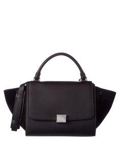e8465dc8d433 CELINE Celine Trapeze Small Leather  Amp  Suede Shoulder Bag .  celine  bags   shoulder bags  hand bags  suede  lining