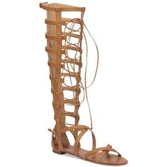 Vince Camuto Mesta Gladiator Sandals (18395 ALL) ❤ liked on Polyvore featuring shoes, sandals, summer cognac, gladiator sandals, roman sandals, vince camuto shoes, studded shoes and studded t-strap sandal
