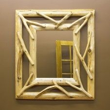 Crafted beautifully from Eastern Red Cedar logs, these Twig Log Mirror Frames will look great in any rustic home, country cottage, or log cabin. Learn more about this rustic decor piece from JHE's online or call for more log furniture. Log Bedroom Furniture, Rustic Log Furniture, Twig Furniture, Rustic Mirrors, Wood Framed Mirror, 3d Picture Frame, Rustic Decor, Rustic Style, Country Decor
