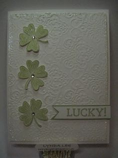 Happy St Patrick's Day  Use heart shapes to make cards.