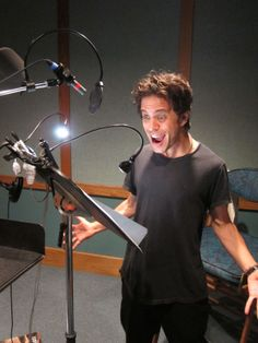 Alexander Polinsky recording the voice of NIGEL in The Voice, Hot Guys, Fangirl, Meet, Characters, Board, Fan Girl, Figurines, Planks
