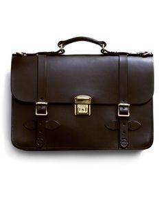 Filson Brown Leather Briefcase  This rugged, heavy leather briefcase looks completely indestructible.