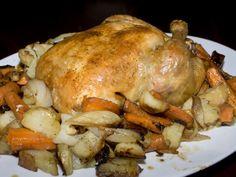 Fokhagymás csirke sült zöldségekkel – alig van vele munka, de az íze csodás!