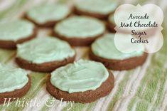 Avocado Mint Chocolate Sugar Cookies