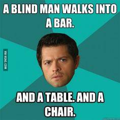 A blind man walks into a bar...