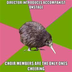 Choir Kiwi - 4 hour bus ride from choir festival sings les miserables wholeheartedly, even after an entire day of singing.reminds me of choir tour :) lol Choir Humor, Choir Memes, Choir Quotes, Choir Songs, Music Jokes, Music Humor, Funny Music, Music Music, Flute Jokes